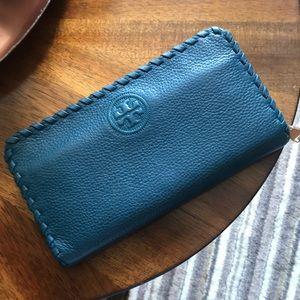 Tory Burch - Dark turquoise wallet